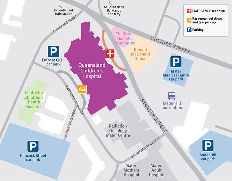 Parking information for Queensland Children's Hospital
