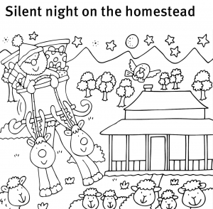 Silent night on the homestead