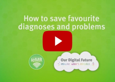 How to save favourite diagnoses