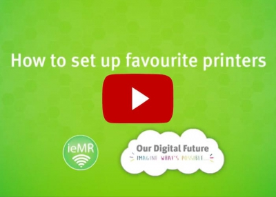 How to set up favourite printers