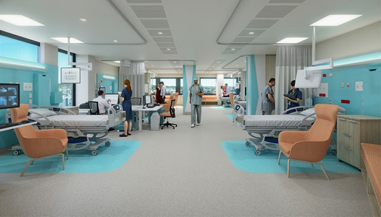 Design Of New Hospital Ward Unveiled Queensland Children S Hospital