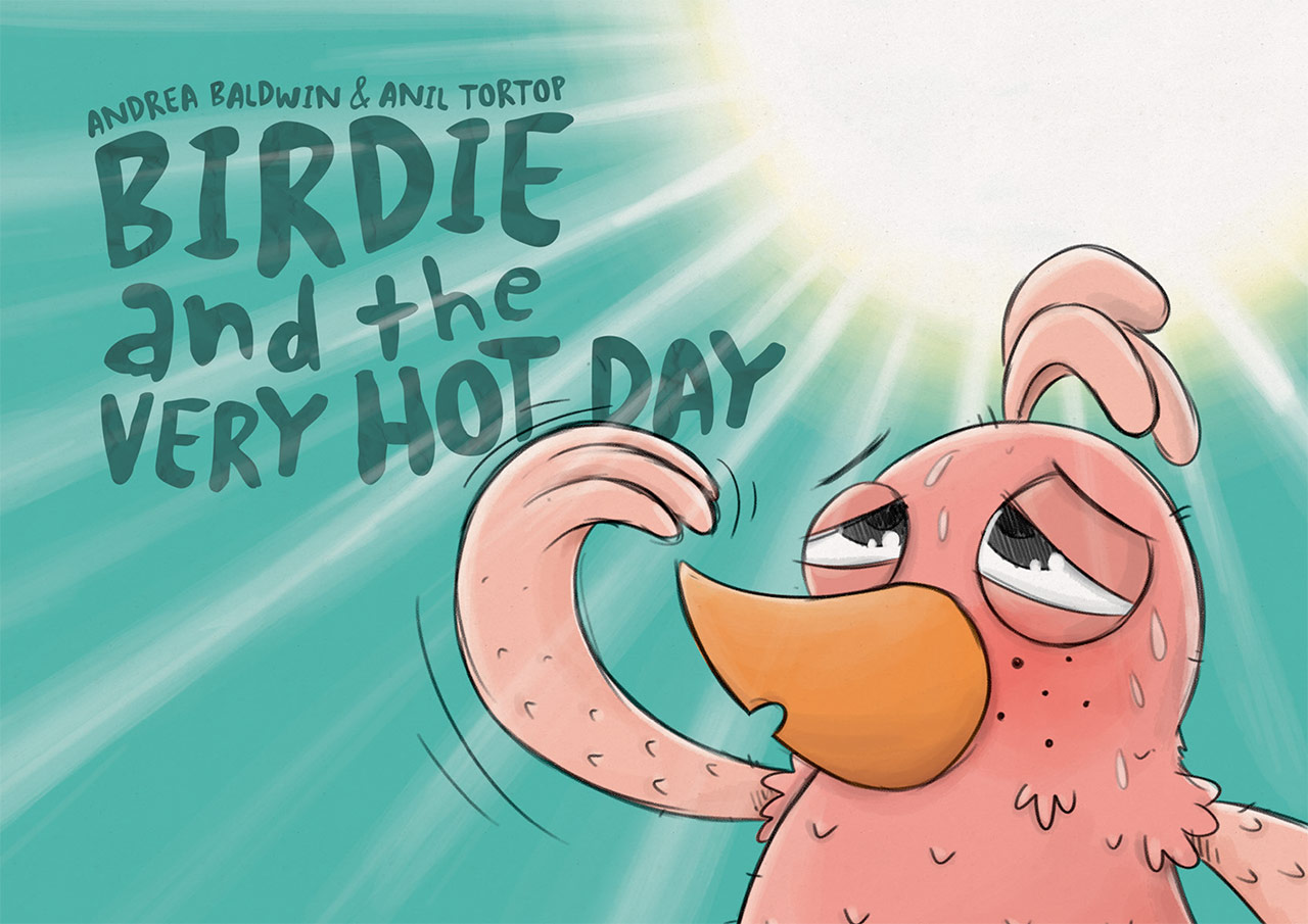 Birdie and the very hot day