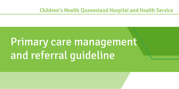 Primary care management and referral guideline