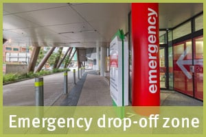 Emergency drop-off zone
