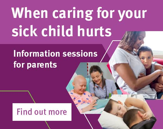 When caring for your sick child hurts banner